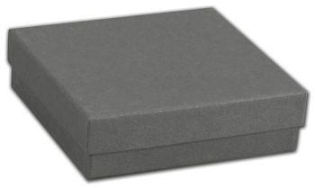 Slate Grey Jewelry Boxes, 3 1/2 x 3 1/2 x 1 1/2