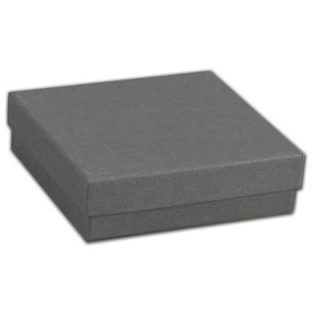 Slate Grey Jewelry Boxes, 3 1/2 x 3 1/2 x 1 1/2""