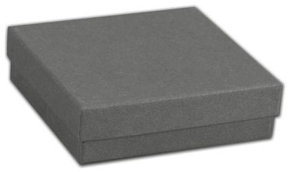 """Slate Grey Jewelry Boxes, 3 1/2 x 3 1/2 x 1 1/2"""""""