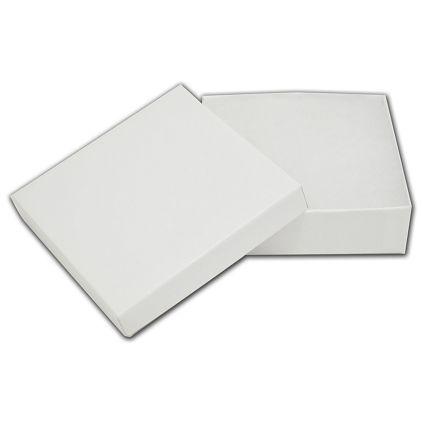"White Krome Jewelry Boxes, 3 1/2 x 3 1/2 x 1 1/2"""