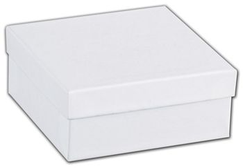 White Swirl Jewelry Boxes, 3 1/2 x 3 1/2 x 1 1/2