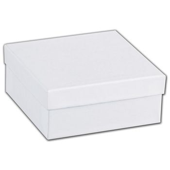 White Swirl Jewelry Boxes, 3 1/2 x 3 1/2 x 1 1/2