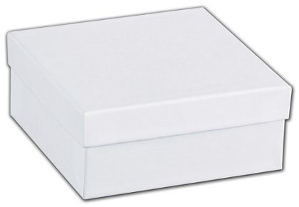 White Swirl Jewelry Boxes, 3 1/2 x 3 1/2 x 1 1/2""
