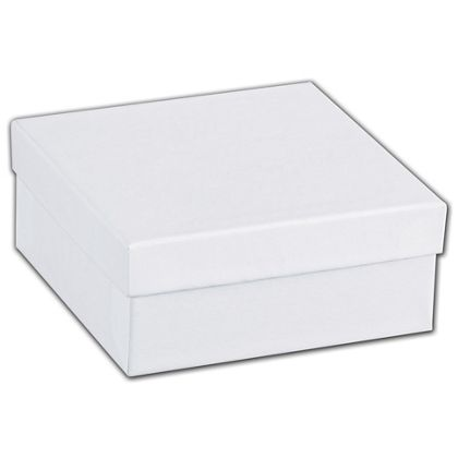 "White Swirl Jewelry Boxes, 3 1/2 x 3 1/2 x 1 1/2"""