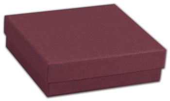 Merlot Jewelry Boxes, 3 1/2 x 3 1/2 x 7/8