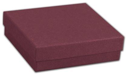 """Merlot Jewelry Boxes, 3 1/2 x 3 1/2 x 7/8"""""""