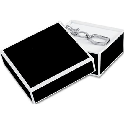 Bookman Black Jewelry Boxes, 3 x 3 x 1 1/4""