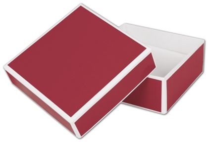 """Bridge Red Jewelry Boxes, 3 x 3 x 1 1/4"""""""