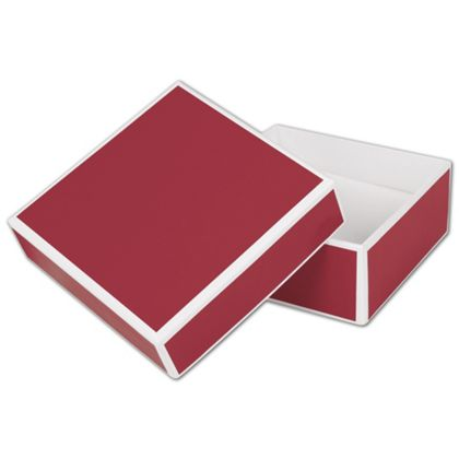 Bridge Red Jewelry Boxes, 3 x 3 x 1 1/4""