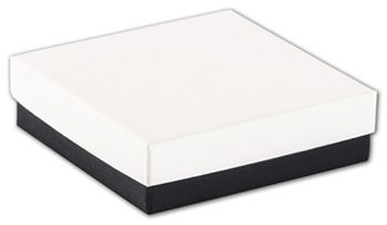 Black & White Jewelry Boxes, 3 1/2 x 3 1/2 x 1