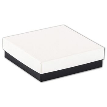 Black & White Jewelry Boxes, 3 1/2 x 3 1/2 x 1