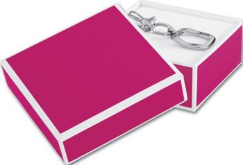 Fillmore Fuchsia Jewelry Boxes, 3 x 3 x 1 1/4