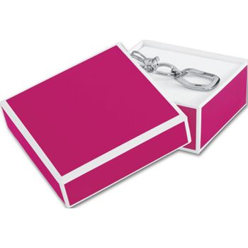 Fillmore Fuchsia Jewelry Boxes, 3 x 3 x 1 1/4""