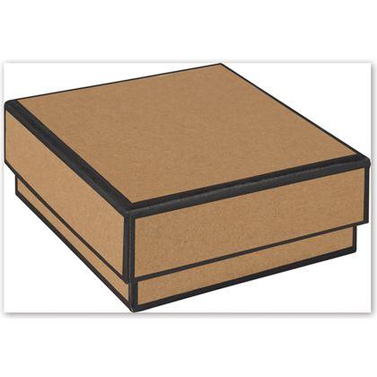 """Kraft Jewelry Boxes, 3 x 3 x 1 1/4"""""""