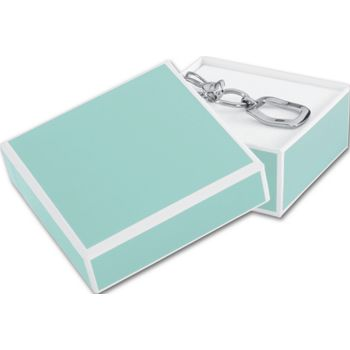 Mission Bay Blue Jewelry Boxes, 3 x 3 x 1 1/4