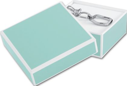 Mission Bay Blue Jewelry Boxes, 3 x 3 x 1 1/4""