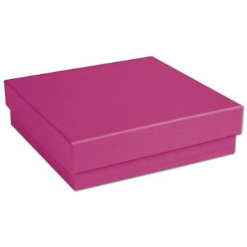 Fuchsia Jewelry Boxes, 3 1/2 x 3 1/2 x 1""