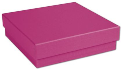 "Fuchsia Jewelry Boxes, 3 1/2 x 3 1/2 x 1"""