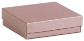 Rose Gold Jewelry Boxes, 3 1/2 x 3 1/2 x 7/8