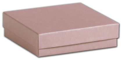 Rose Gold Jewelry Boxes, 3 1/2 x 3 1/2 x 7/8""