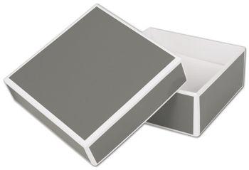 Slate Grey Jewelry Boxes, 3 x 3 x 1 1/4