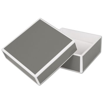 Slate Grey Jewelry Boxes, 3 x 3 x 1 1/4