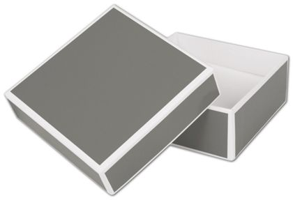 Slate Grey Jewelry Boxes, 3 x 3 x 1 1/4""