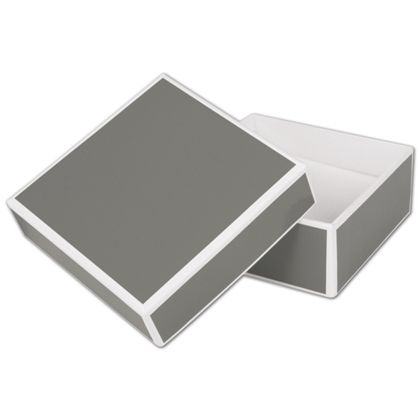 """Slate Grey Jewelry Boxes, 3 x 3 x 1 1/4"""""""
