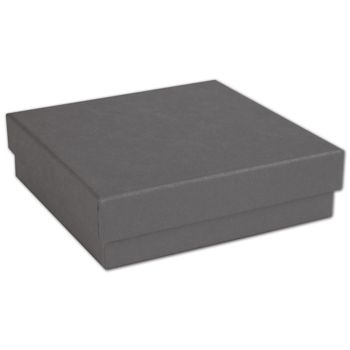 Slate Grey Jewelry Boxes, 3 1/2 x 3 1/2 x 7/8""