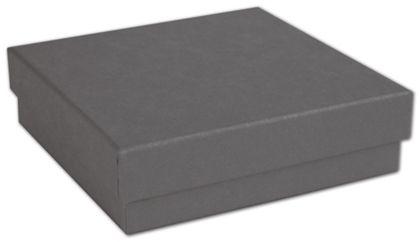 """Slate Grey Jewelry Boxes, 3 1/2 x 3 1/2 x 1"""""""