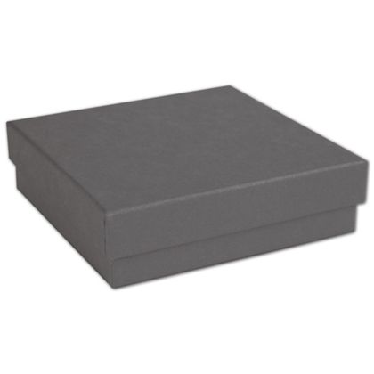 Slate Grey Jewelry Boxes 3 12 X 3 12 X 78 Bags Bows