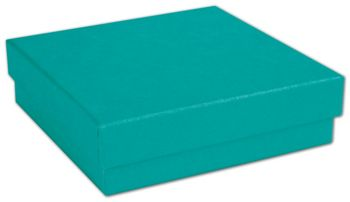 Tropical Blue Jewelry Boxes, 3 1/2 x 3 1/2 x 1