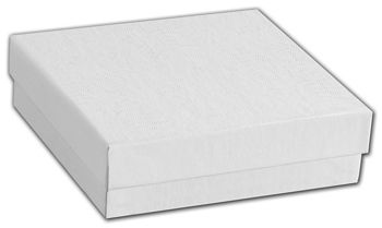 White Swirl Jewelry Boxes, 3 1/2 x 3 1/2 x 7/8