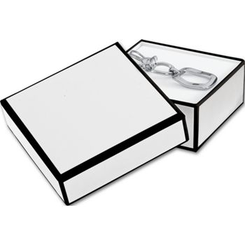Whiteboard White Jewelry Boxes, 3 x 3 x 1 1/4