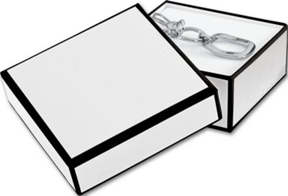 Whiteboard White Jewelry Boxes, 3 x 3 x 1 1/4""