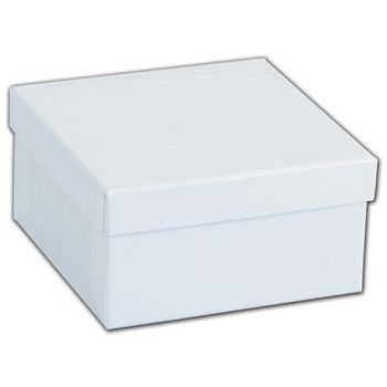 White Krome Jewelry Boxes, 3 1/2 x 3 1/2 x 1 7/8""