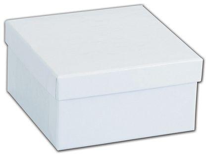 "White Krome Jewelry Boxes, 3 1/2 x 3 1/2 x 1 7/8"""