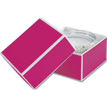 Fillmore Fuchsia Jewelry Boxes, 3 1/2 x 3 1/2 x 2