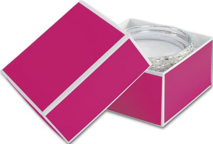 Fillmore Fuchsia Jewelry Boxes, 3 1/2 x 3 1/2 x 2""