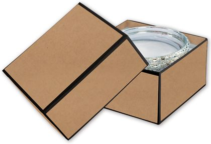 Kraft Jewelry Boxes, 3 1/2 x 3 1/2 x 2""