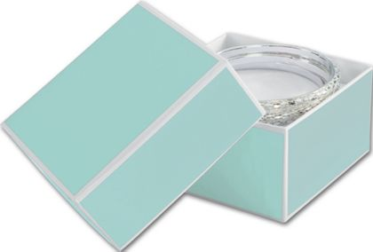 Mission Bay Blue Jewelry Boxes, 3 1/2 x 3 1/2 x 2""
