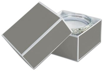 Slate Grey Jewelry Boxes, 3 1/2 x 3 1/2 x 2