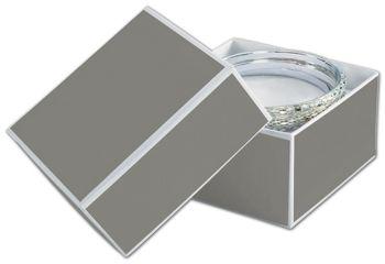 Slate Grey Jewelry Boxes, 3 1/2 x 3 1/2 x 2