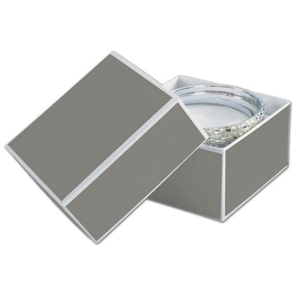 Slate Grey Jewelry Boxes, 3 1/2 x 3 1/2 x 2""