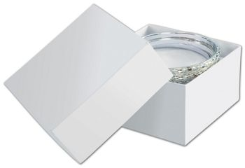 Solid White Jewelry Boxes, 3 1/2 x 3 1/2 x 2