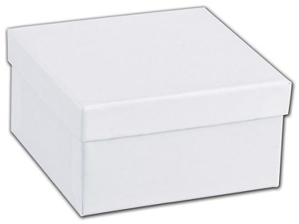 "White Swirl Jewelry Boxes, 3 1/2 x 3 1/2 x 1 7/8"""