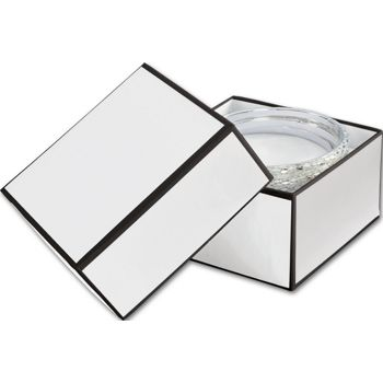 Whiteboard White Jewelry Boxes, 3 1/2 x 3 1/2 x 2