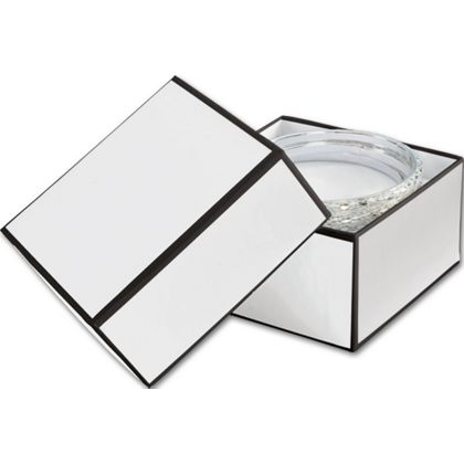 Whiteboard White Jewelry Boxes, 3 1/2 x 3 1/2 x 2""