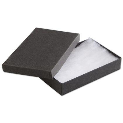 "Black Jewelry Boxes, 5 7/16 x 3 1/2 x 1"""