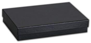 Black Matte Jewelry Boxes, 5 7/16 x 3 1/2 x 1